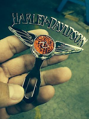 HD motorcycle license plate topper CALIFAS BOMBS HARLEY DAVIDSON CALIFORNIA