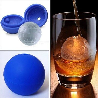 Bar Silicone Wars Death Star Mold Round Ball Ice Cube Tray Desert Sphere Mould
