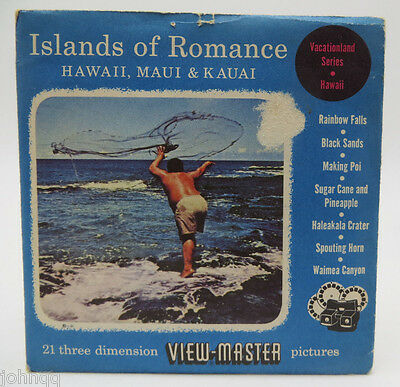 View-Master A124, Islands Of Romance S3 1951 (Reels 66, 67, 72), 3 Reel Set