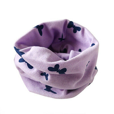 Boys Girls Collar Baby Scarf Cotton O-Ring Neck Scarves (purple) C2Z7