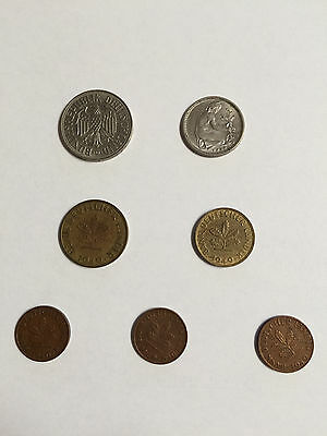German Coins - Lot of 7 1949-1950 Circulated