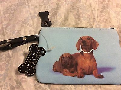 NEW! C. Marie Collection PET Chihuahua Mom & Puppy Coin Makeup Purse Rhinestones