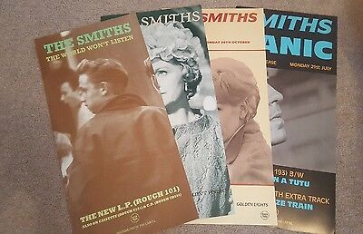 The Smiths 4 POSTERS.12 x 24 ASK, I STARTED SOMETHING, PANIC, & WWL MORRISSEY...