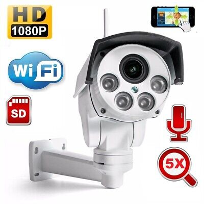 Outdoor waterproof PTZ HD 1080p Wirless WIFI IP camera 5x Optical Zoom Onvif 12V