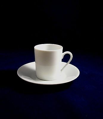 Limoges White Porcelain Espresso Cup and Saucer