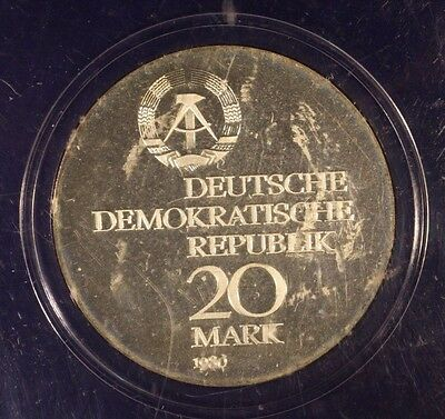 1980 East Germany 20 Mark ABBE Proof Coin Sealed   ** Free U.S. Shipping **