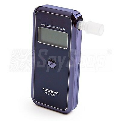 Electrochemical breathalyser AL-9000 / Accuracy: 0.1 ‰ + 50 mouthpieces!!