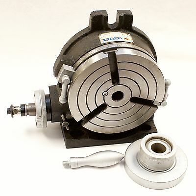 """VERTEX HV-6 6"""" Horizontal / Vertical Rotary Table with Face Plate"""