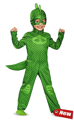 Disguise Gekko Classic Toddler PJ Masks Costume Cosplay Kids Outfit Large 4-6