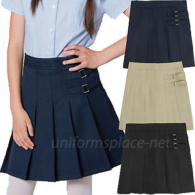 Girls Scooter French Toast Girls Two-Tab Pleated Scooter Skirt School Uniforms