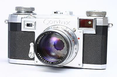 Contax Iia Rangefinder 35Mm W/ Zeiss-Opton Sonnar T 50Mm F/1.5 Lens