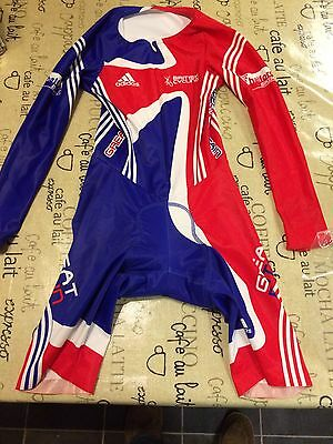 Junior Adidas Great Britain Cycling Skin Suit XS