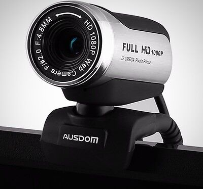 AUSDOM 1080P HD Webcam Camera USB 2.0 With Microphone For Skype Facetime Youtube
