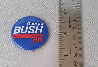 Vintage George Bush 1988 for President Pin Back Button