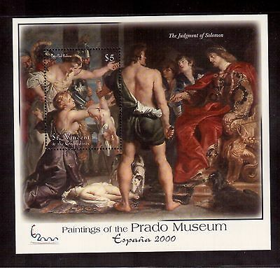 St.vincent & The Grenadines 2001 #2865 S/s Mint Nh Peter Paul Rubens Painting !!