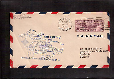 Usa 1930 Cover, First Great Lakes Air Cruise Flight !!
