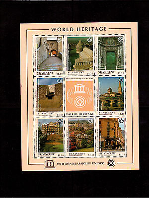 ST. VINCENT & THE GRENADINES 1997 #2394 MINI SHEET VF NH UNESCO 50th ANNIV.