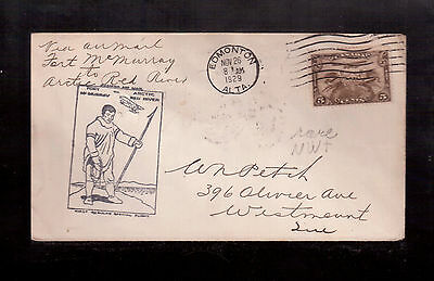 "Canada 1929 First Flight Cover, ""fort Mcmurray To Red River"" #c1 !!"
