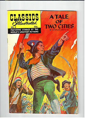 Gilberton CLASSICS ILLUSTRATED Tale of Two Cities #6 HR#169 1970 vintage comic