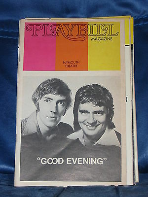 """Playbill For """"good Evening"""" Dudley Moore Peter Cook Nov 1973 Plymouth Theatre"""
