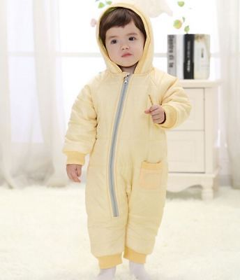 Snow Proof Padded Baby Infant Snowsuit Winter Ski Snow Suit Unisex Boys/Girls