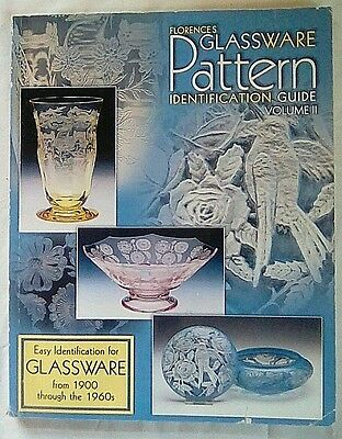 Used Florence's Glassware Pattern Identification Guide Vol. 2 Free Shipping!