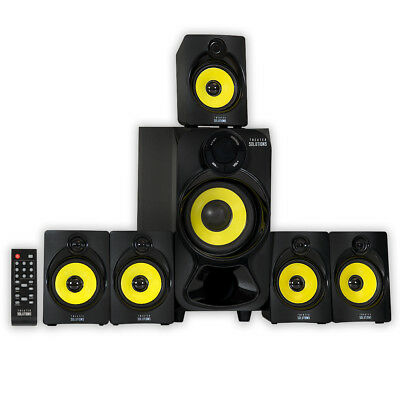 Theater Solutions TS518 Bluetooth Home Theater 5.1 Speaker System with USB / SD