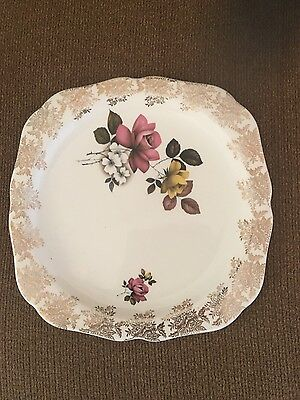 Vintage Lord Nelson Chintz Rose Plate