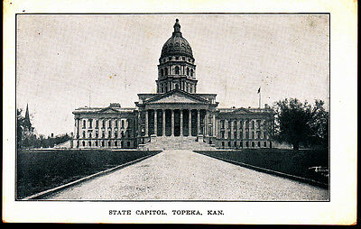 ca 1910s Photo Postcard  ~  Topeka State Capitol