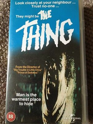 Horror VHS Video - The Thing - John Carpenter
