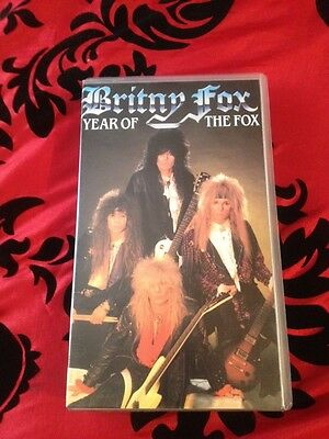 Vhs Video Cassette - Britny Fox - Year Of  The Fox Video