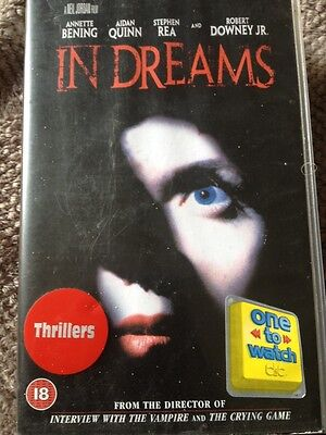 Thriller VHS Video - In Dreams - Large Case Ex Rental