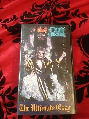 Vhs Music Video Cassette - Ozzy Osbourne - The Ultimate Ozzy