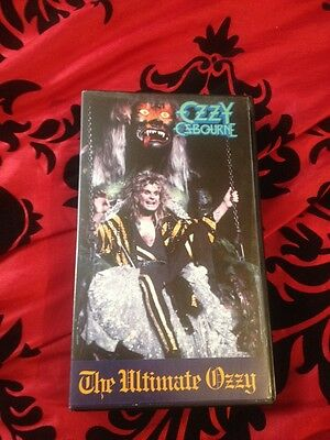 Vhs Video Cassette - Ozzy Osbourne - The Ultimate Ozzy