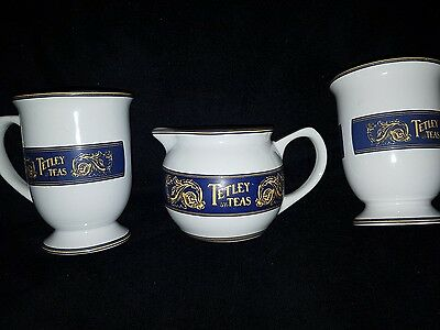 2 Tetley Tea Mugs Coffee Cup with Creamer