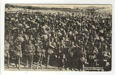 AK 1 WW, Australians parading for the Trenches, ca. 1915