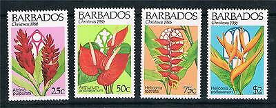 Barbados 1986 Christmas Flowers SG828/31 MNH