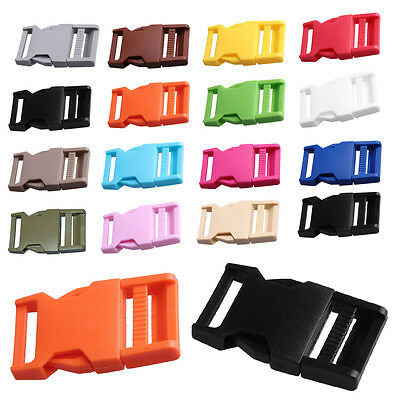 2X 25mm Plastic Side Quick Release Buckle Clip Backpack Bag Accessory Strap Belt
