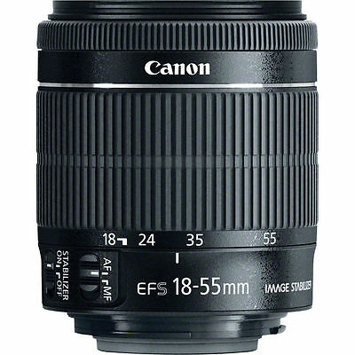 Canon Lens - EF-S 18-55mm - f/3.5-5.6 IS - AutoFocus Lens with Image Stabilizer