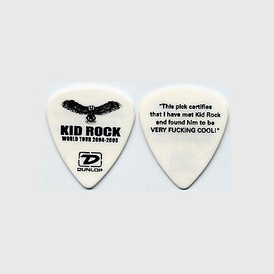 Kid Rock authentic 2004 tour issued custom stage collectible band Guitar Pick