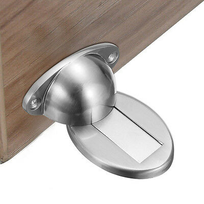 Magnetic Invisible Door Holder Stopper Doorstop Wall Floor Mounted Safety Catch