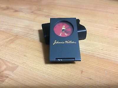 Jonnie Walker Travel Clock With Leatherette Case Very Rare.