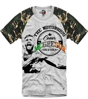 E1SYNDICATE T SHIRT CONOR MCGREGOR UFC MMA BOXING FLOYD MAYWEATHER GREY 2854ca