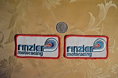 Vintage Rinzler Motoracing And Rc Racing Team Patch Lot!! Sew-On Rare!! New!!