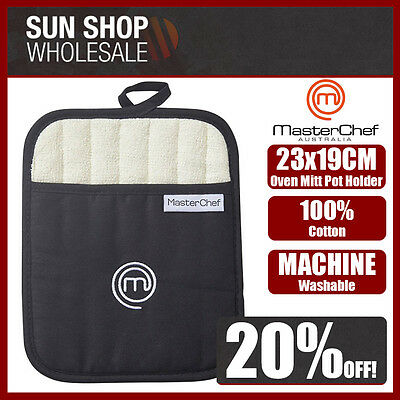 Genuine! MasterChef Oven Mitt Pot Holder Black! Machine Washable! RRP $14.99!