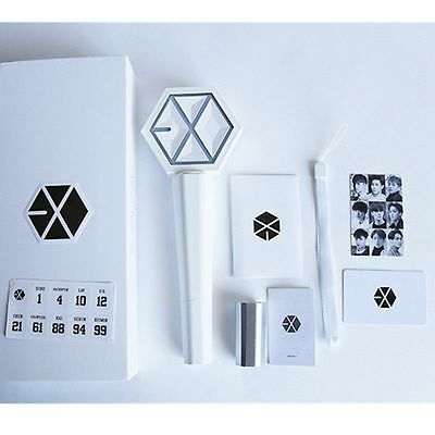 Kpop EXO EX'ACT EXACT MONSTER LIGHT STICK Ver. 2.0 LAMP PHOTO CARD LEUCHTSTAB