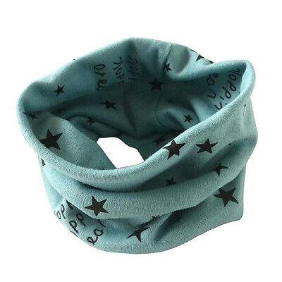 Boys Girls Collar Scarf Cotton O-Ring Neck Scarves (green) P8G7