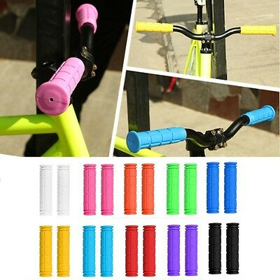 AU 1 Pair Universal Bicycle Handlebar Nonslip Soft Rubber Bike Handle Cover Grip