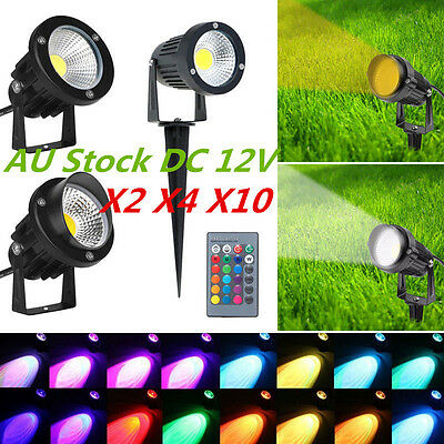 3W 5W 7W 10W LED COB Garden Flood Spotlights Landscape Lights Low Voltage DC12V
