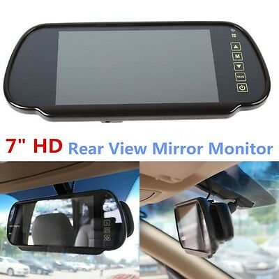 7'' LCD TFT Screen Car Reverse RearView DVD VCD Mirror Monitor For Backup Camera